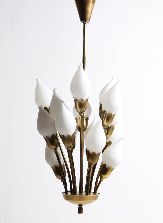 Tulip Chandelier by Fog and Mørup at 1stdibs