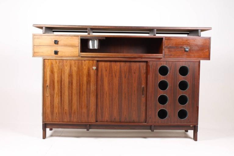 Mid-20th Century Danish Rosewood Dry Bar, 1960s For Sale