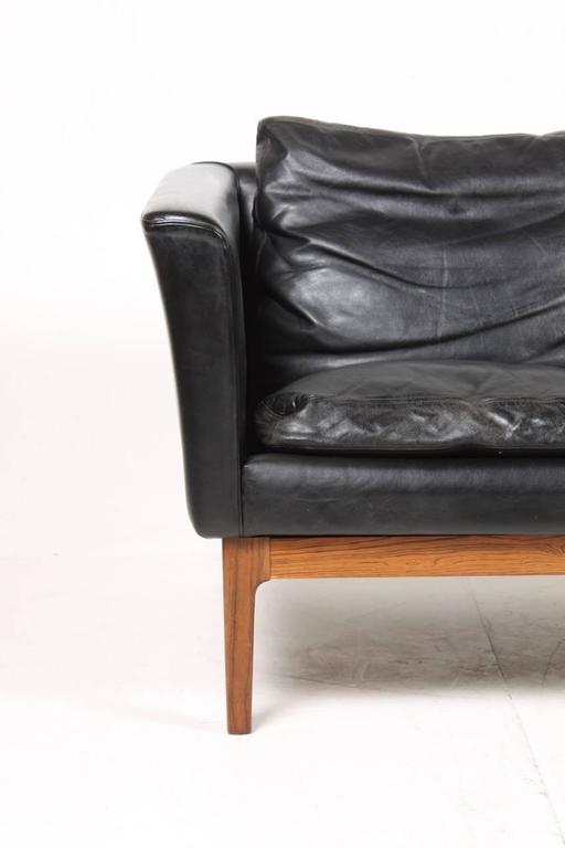 Stunning Four Seat Sofa In Leather For Sale At 1stdibs