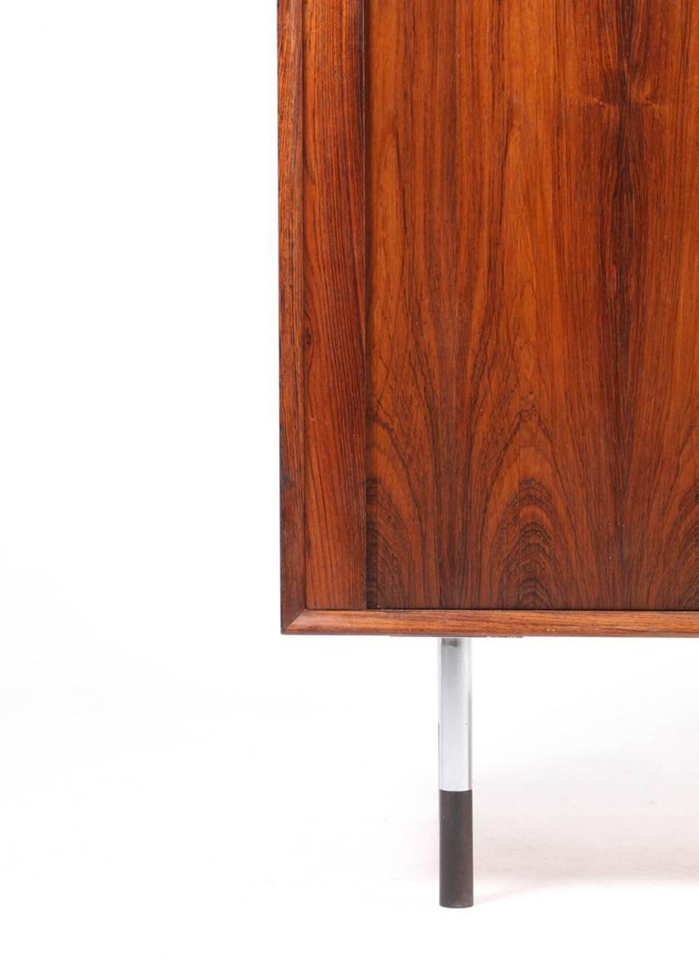 Credenza in rosewood with Tambour doors by Maa. Arne Vodder / Sibast furniture, 1960s. Great condition.