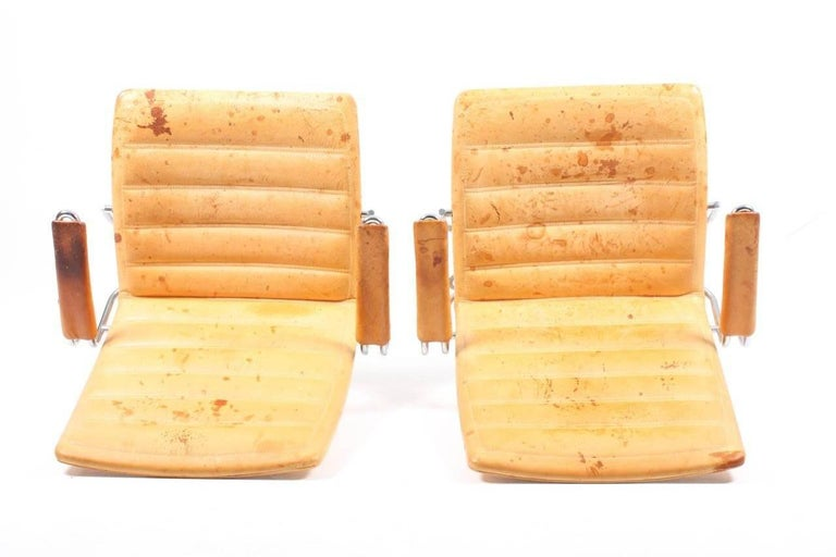 Late 20th Century Pair of Patinated Lounge Chairs by Jens Amundsen For Sale