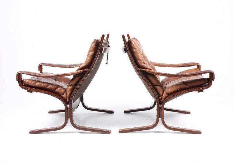 Scandinavian Modern Pristine Pair of Lounge Chairs by Ingmar Relling