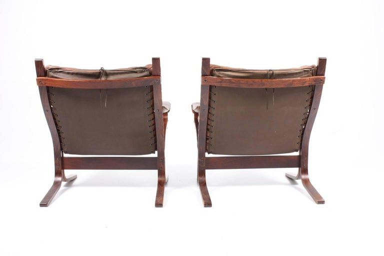 Mid-20th Century Pristine Pair of Lounge Chairs by Ingmar Relling