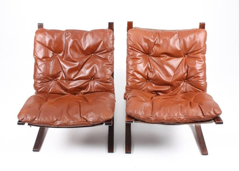 Norwegian Pristine Pair of Lounge Chairs by Ingmar Relling