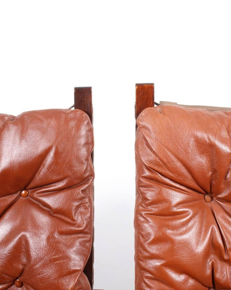 Pristine Pair of Lounge Chairs by Ingmar Relling In Excellent Condition In Lejre, DK