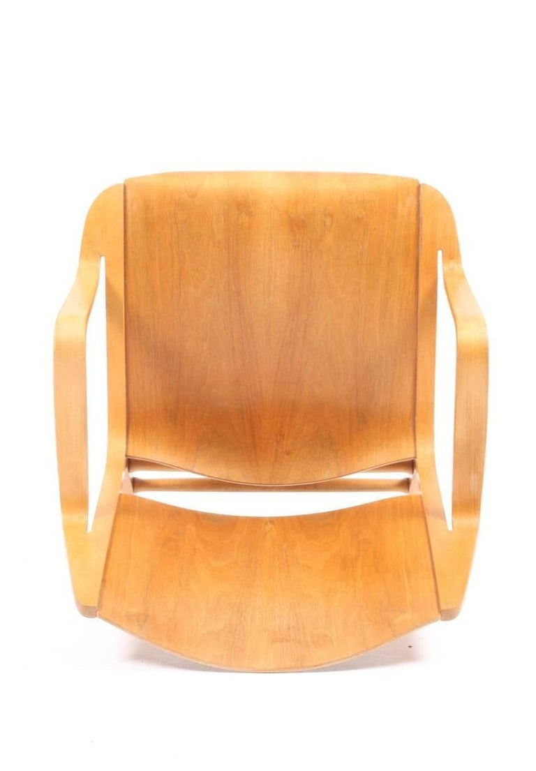 Beech AX Lounge Chair by Hvidt & Mølgaard For Sale