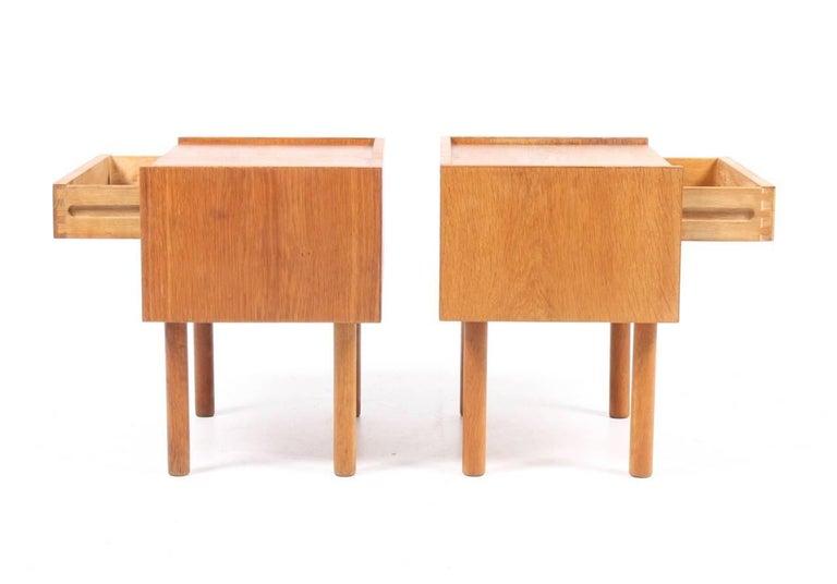 Danish Pair of Nightstands by Wegner For Sale