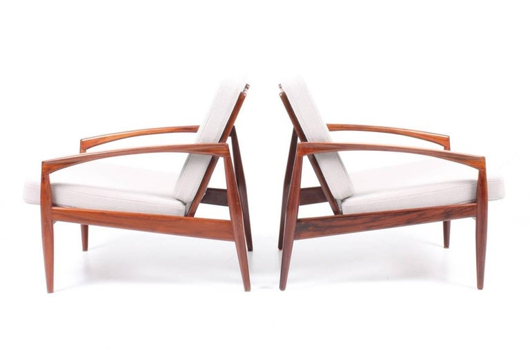 Scandinavian Modern Pair of Lounge Chairs by Kai Kristiansen