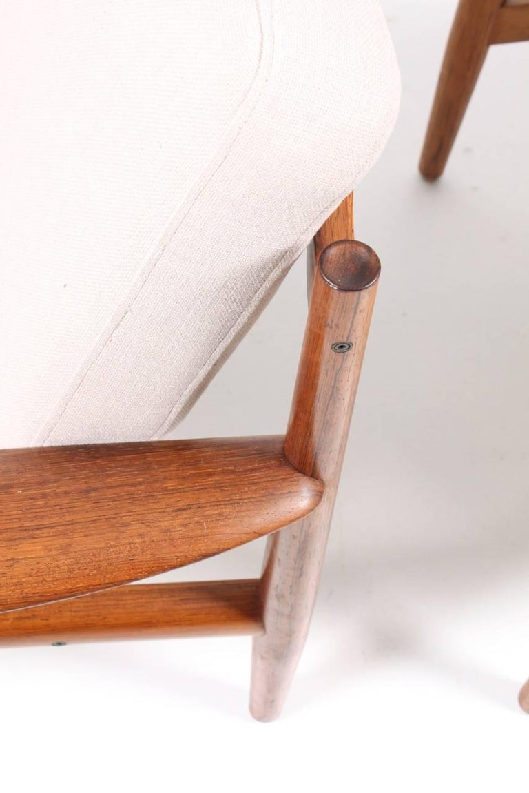 Mid-20th Century Pair of Lounge Chairs in Rosewood by Grete Jalk