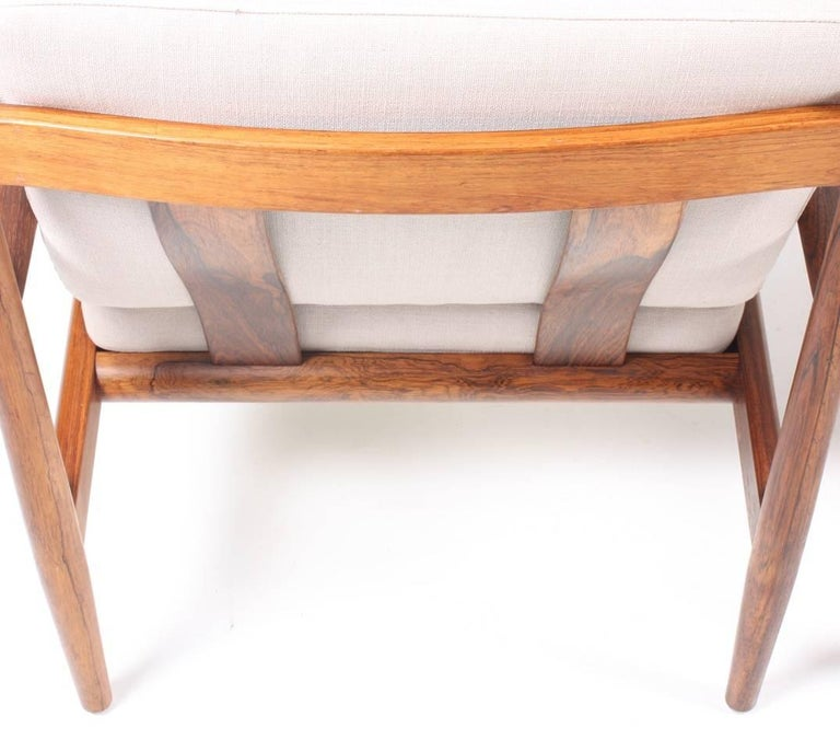 Pair of Lounge Chairs in Rosewood by Grete Jalk 1