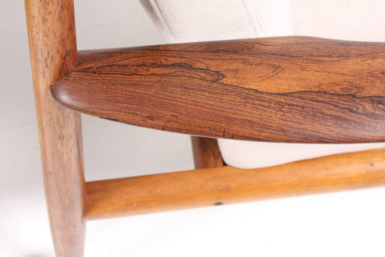 Pair of Lounge Chairs in Rosewood by Grete Jalk 2