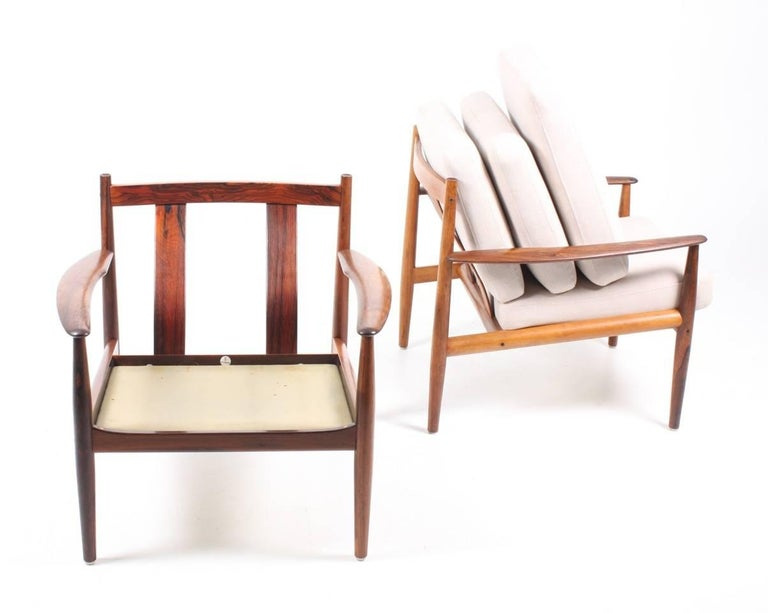 Pair of Lounge Chairs in Rosewood by Grete Jalk 3