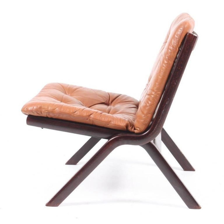 Scandinavian Modern Set of Three Lounge Chairs, 1970s