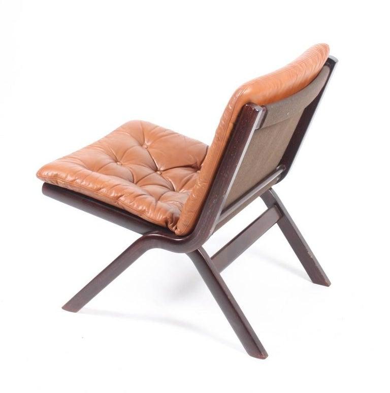 Danish Set of Three Lounge Chairs, 1970s