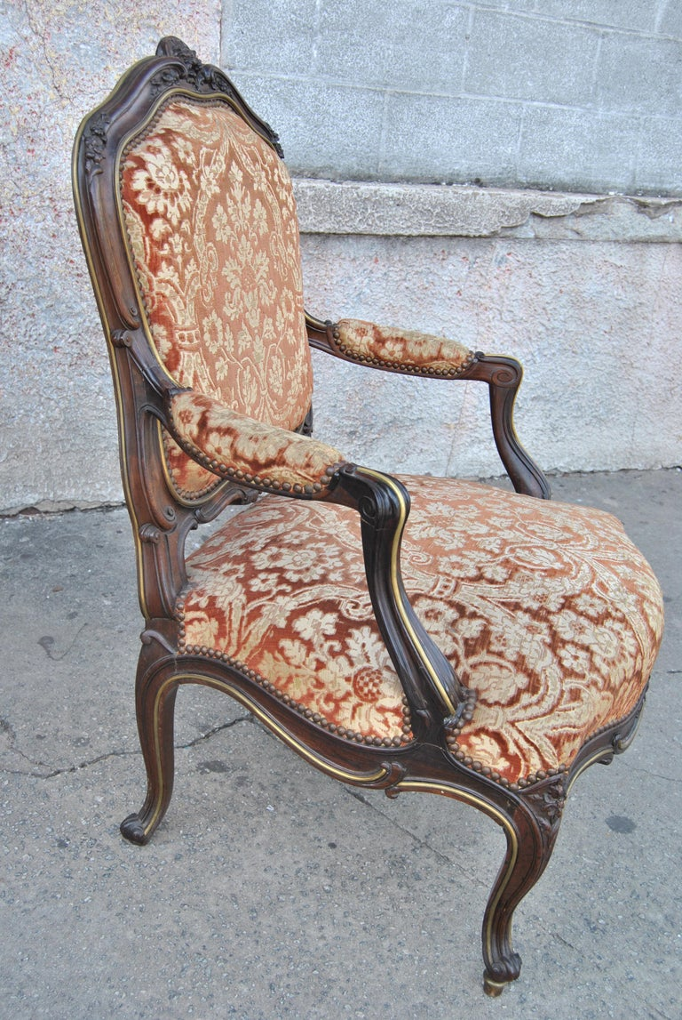 Late 19th Century Pair of 19th Century French Armchairs For Sale