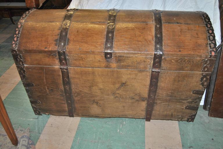 English 18th Century Sea Chest-Blanket Chest-Coffer