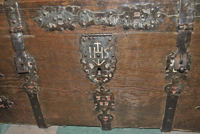 Early 18th Century 18th Century Sea Chest-Blanket Chest-Coffer