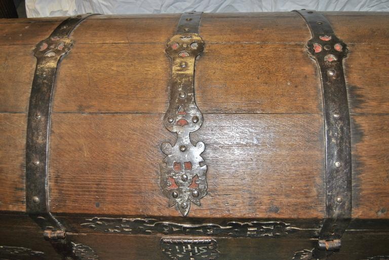 Oak 18th Century Sea Chest-Blanket Chest-Coffer
