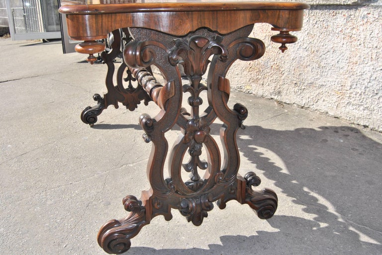 Victorian 19th Century English  Rosewood Hall or Centre Table For Sale
