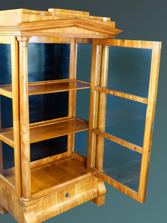 Biedermeier Period Vitrine Display Cabinet At 1stdibs