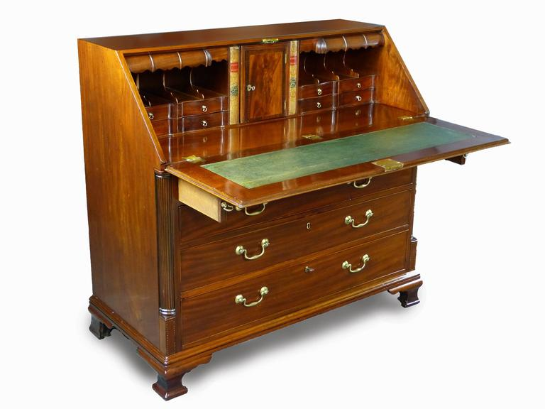 George Iii Bureau Desk 18th Century Georgian With Secret Compartments Cuban Gany For
