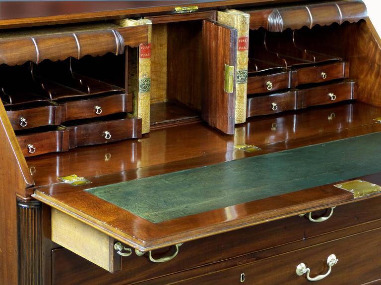 18th Century Georgian Bureau Desk With Secret Compartments For Sale At 1stdibs