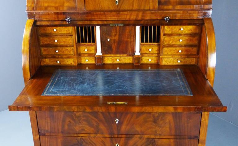 19th century biedermeier bureau secretaire with cylinder top for sale at 1stdibs. Black Bedroom Furniture Sets. Home Design Ideas