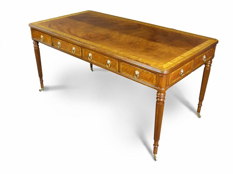 Fine Regency Style Writing Desk By E.J. Victor 2
