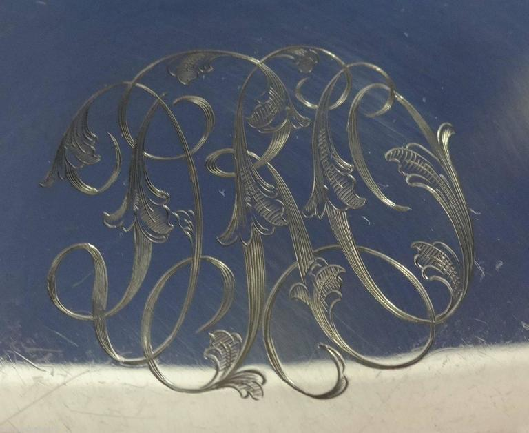 Redlich & Co. Sterling Silver Centerpiece Bowl Pierced Hollowware For Sale 1