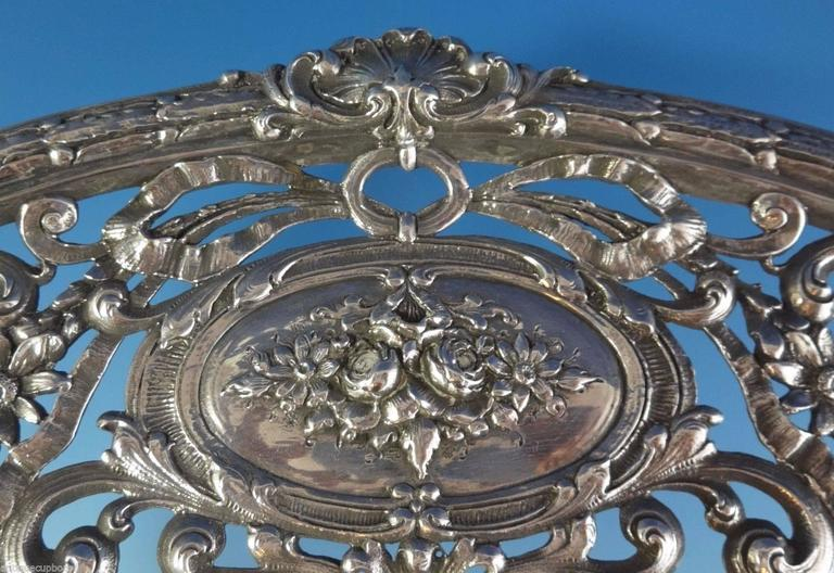 Redlich & Co. Sterling Silver Centerpiece Bowl Pierced Hollowware In Excellent Condition For Sale In Big Bend, WI