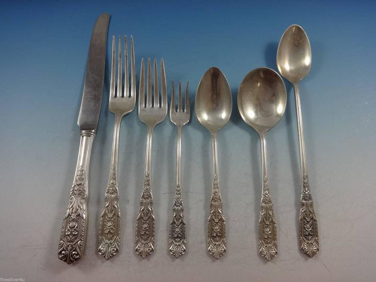Sterling Silver Flatware Westmorland Milburn Rose Cream Soup Spoon