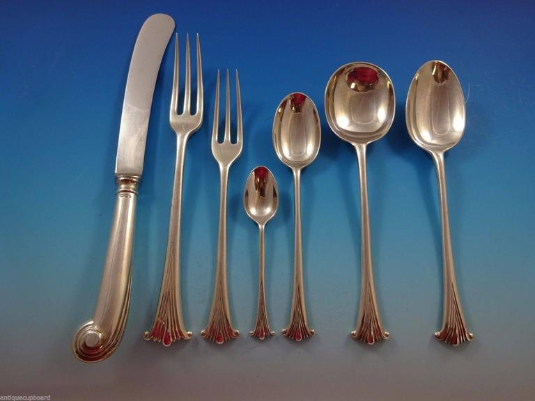 """English Thread by James Robinson Sterling Silver Place Soup Spoon 7/"""""""