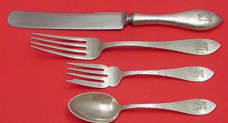Adam By Shreve Sterling Silver Regular Fork 7 Flatware
