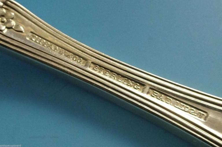 Late 19th Century Richelieu by Tiffany & Co Sterling Silver Flatware Set Service Fitted Box 81 Pcs For Sale