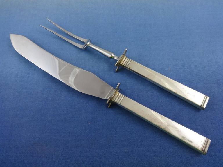 Funkis by sorensen sterling silver danish flatware set for Funkis sale