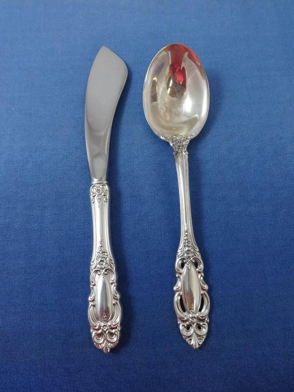 Grand Duchess by Towle Sterling Silver Flatware Set Service 35 Pieces For Sale 1