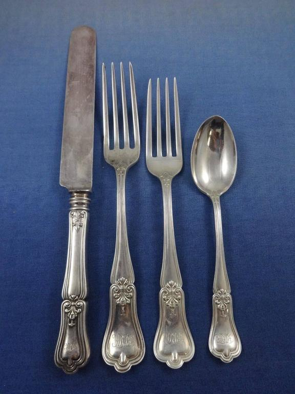 American Imperial by Gorham Sterling Silver Flatware Set Service 80 Pieces in Fitted Box For Sale