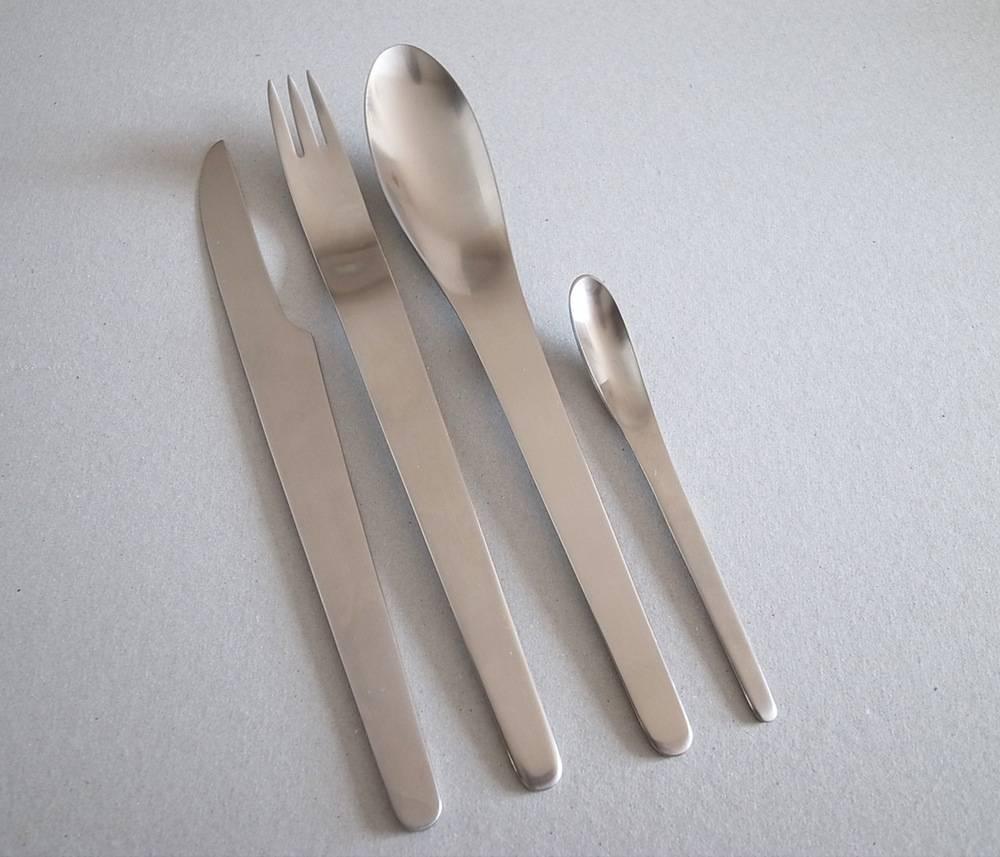 Arne jacobsen by georg jensen stainless steel flatware set for 8 service 40 pcs for sale at 1stdibs - Arne jacobsen flatware ...