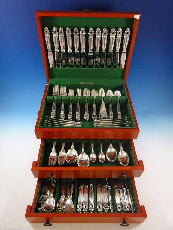 Acorn by Georg Jensen Sterling Silver Flatware Set for 12 Service Dinner Huge 2