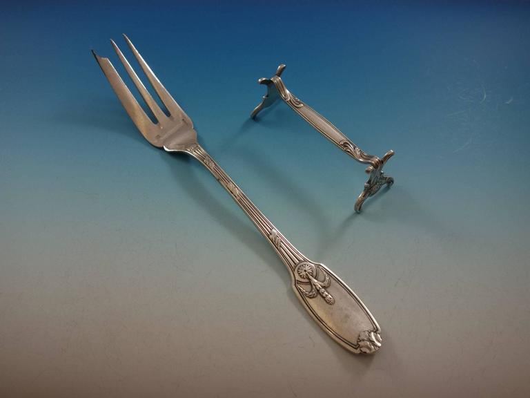 Delafosse by Christofle France Silver Plate Flatware Set 12 Service 137 Pieces For Sale 3