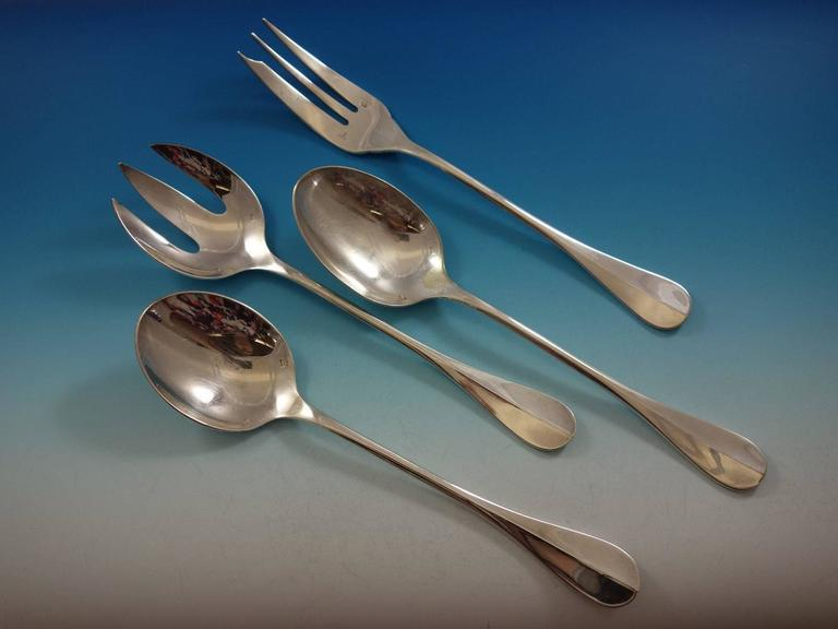 Fidelio by Christofle France Silverplate Flatware Set Service 112 Pieces Huge  For Sale 2