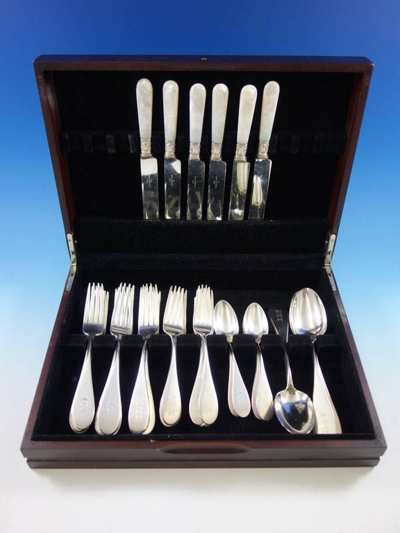 Yerba Buena by Vanderslice Sterling Silver Flatware Set 41 Pcs California Silver In Excellent Condition For Sale In Big Bend, WI