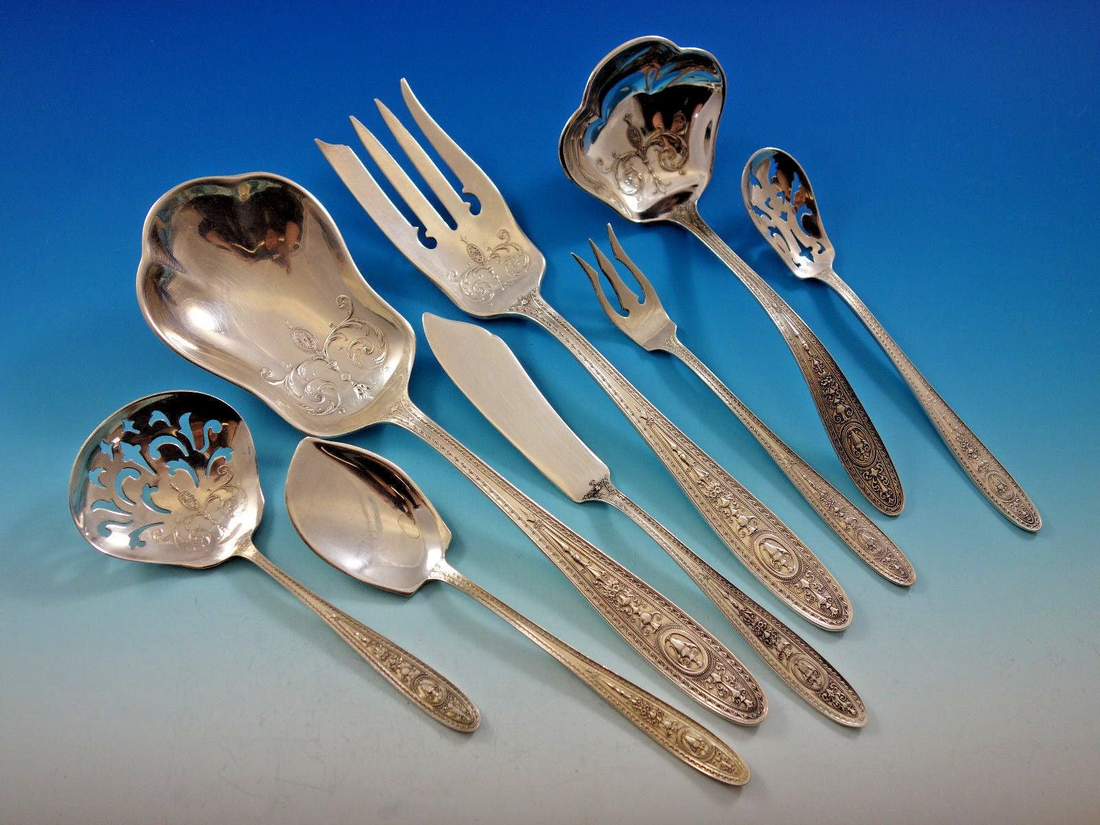 "International Trousseau sterling silver cocktail fork /""K/"" monogram 5 1//2/"" s"