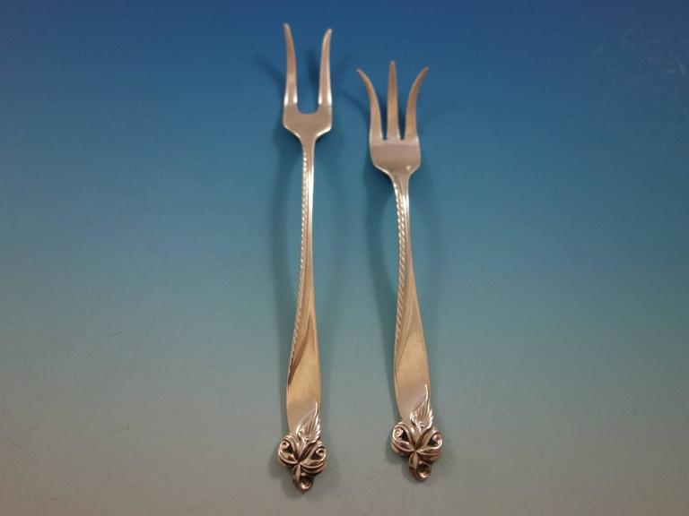 Orchid Elegance by Wallace Sterling Silver Lemon Fork 5