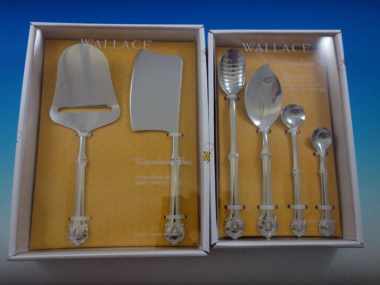 """Wallace Napoleon Bee 18//10 Stainless Steel 9-3//4/"""" Large Serving Spoon"""