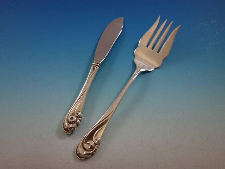 surf collection silverware set in surf by kirk stieff sterling silver flatware set 871