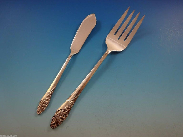 Evening Star by Community Oneida Silver Plate Flatware Set 12 Service of 69 Pcs For Sale 1