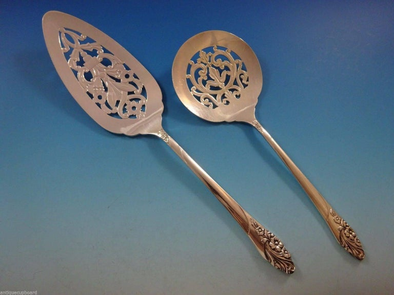 Evening Star by Community Oneida Silver Plate Flatware Set 12 Service of 69 Pcs For Sale 4