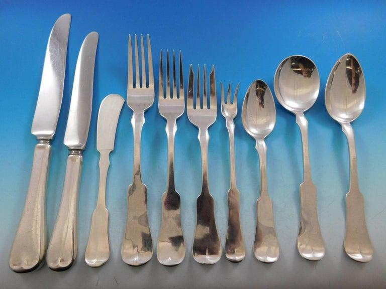 Grandma Milford by Porter Blanchard Sterling Silver Flatware Set Service Dinner For Sale 5