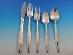 Diamond by Reed & Barton Sterling Silver Flatware Set for 8 Service 40 pc Ponti